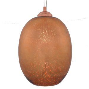 Copper 3D Effect Glass Egg Shape Pendant