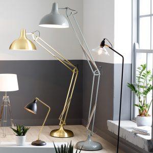 Grey Painted Task Floor Lamp