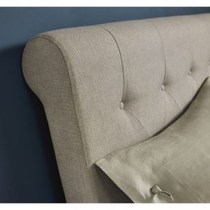 Hampstead Soft Grey Upholstered Bedstead Double