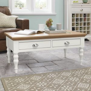 Hampstead Two Tone Coffee Table with drawers