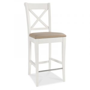 Hampstead Two Tone X Back Bar Stool (Pair)