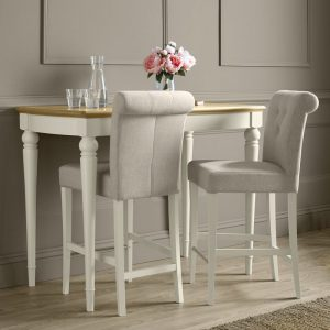 Montreux Antique White Upholstered Bar Stool (pair)