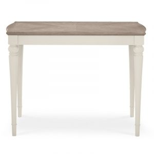 Montreux Grey Washed Oak and Soft Grey Bar Table