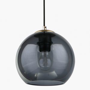 Navy Glass Globe Pendant