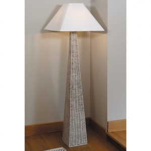 Rattan Pyramid Floor Lamp BASE ONLY