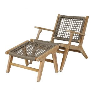 Sesto Lounge Chair and Hocker Set