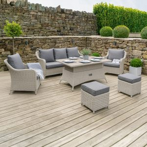 Stone Grey Antigua Relaxed Dining Set