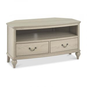 Bordeaux Chalk Oak Corner Entertainment Unit