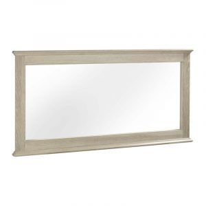 Wide Wall Mirror With Chalked Oak Frame