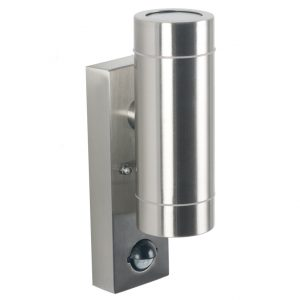 Outside Metal Dual Wall Light with PIR