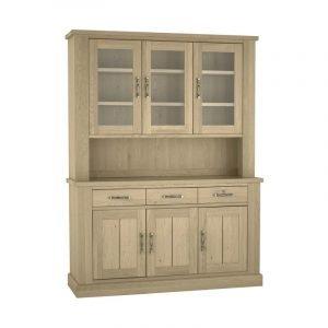 Chartreuse Aged Oak Glazed Dresser
