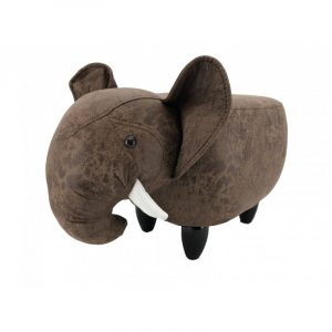 Elephant Footstool Dark Brown