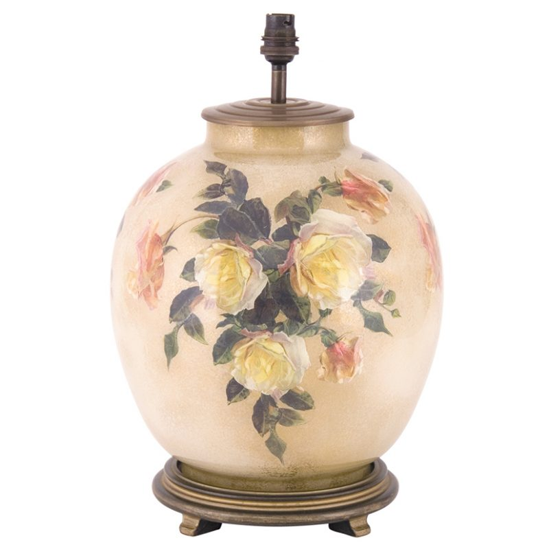 Jenny Worrall Classic Rose Large Glass Table Lamp