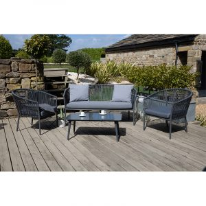 Limoges Stackable Lounge Set Grey
