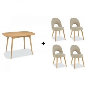 Oslo Oak Dining Set – Table and 4 Chairs