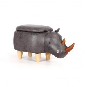 Rhino Footstool with Storage