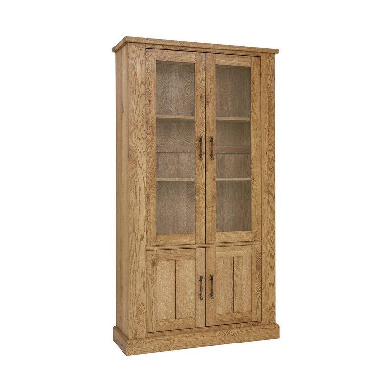 Bentley Designs Westbury Rustic Oak Display Cabinet