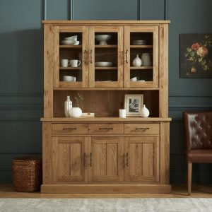 Westbury Rustic Oak Glazed Dresser