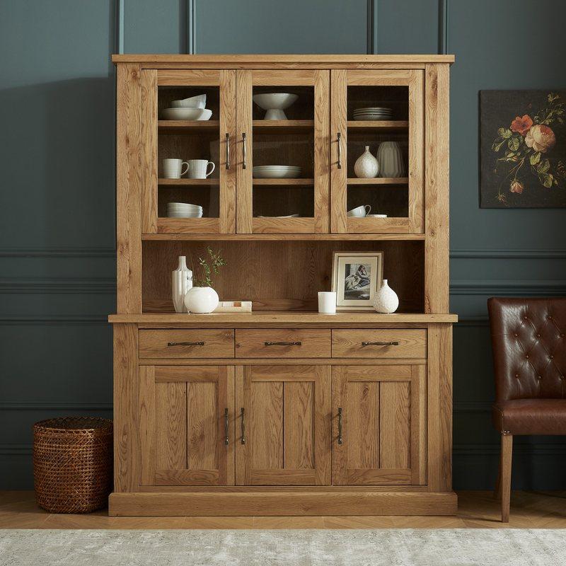Bentley Designs Westbury Rustic Oak Glazed Dresser