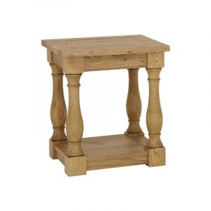 Westbury Rustic Oak Lamp Table