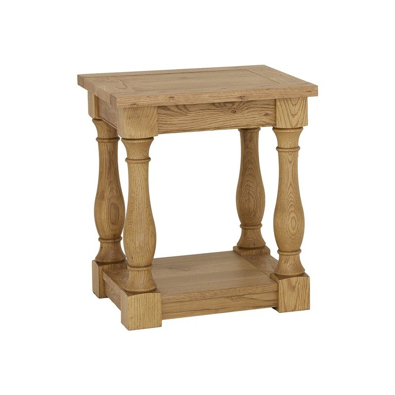 Bentley Designs Westbury Rustic Oak Lamp Table