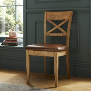 Westbury Rustic Oak X Back Chair