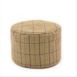 Tweed Pouf -15/Sage Pattern
