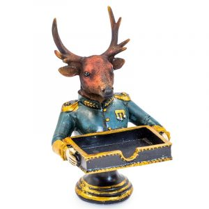 Gentry stag business card holder