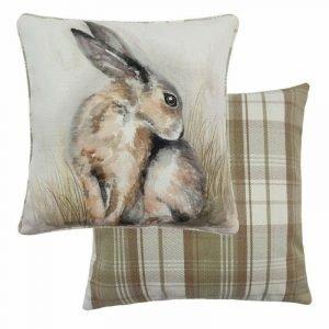 Watercolour Hare Cushion