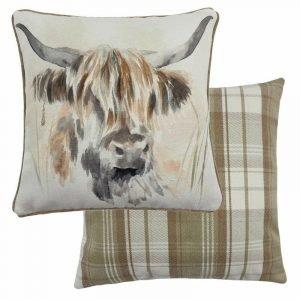 Watercolour Highland Cow Cushion