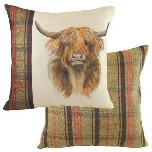 Hunter Highland Cow Cushion