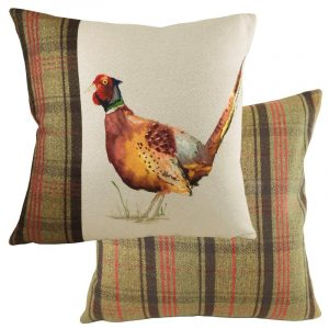Hunter Pheasant Cushion