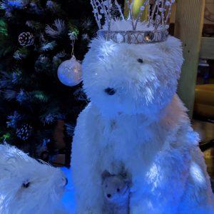 Upright Icy Polar Bear 62cm