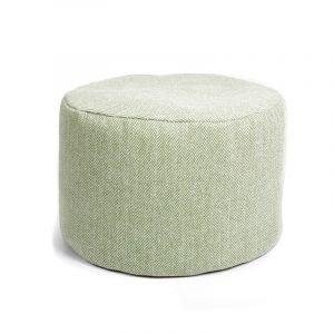 Tweed Pouf – Herringbone Olive/Sage Green