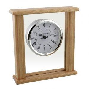 William Widdop® Wooden Glass Bezel Mantel Clock