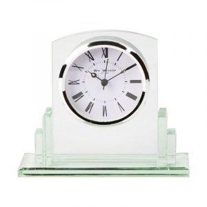 Square Glass Mantel Clock