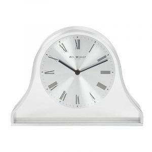 William Widdop® Napoleon Mantel Clock Silver Aluminium Case
