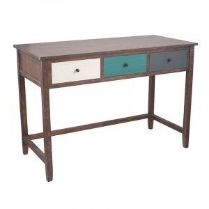 Multicoloured 3 Drawer Desk