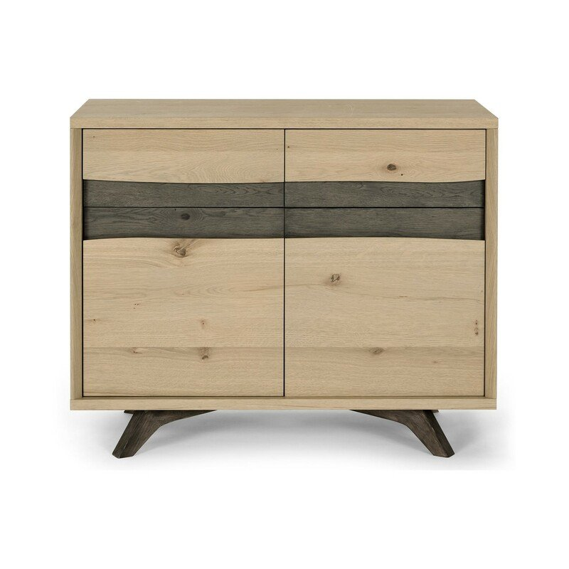 Cadell Aged Oak Narrow Sideboard front view