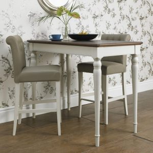 Hampstead Soft Grey and Walnut Bar Table
