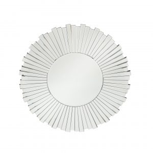 Mirrored Glass Starburst Round Wall Mirror