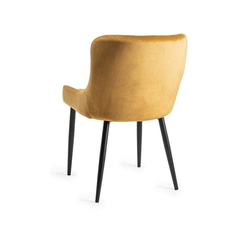 Mustard Velvet Upholstered Chair