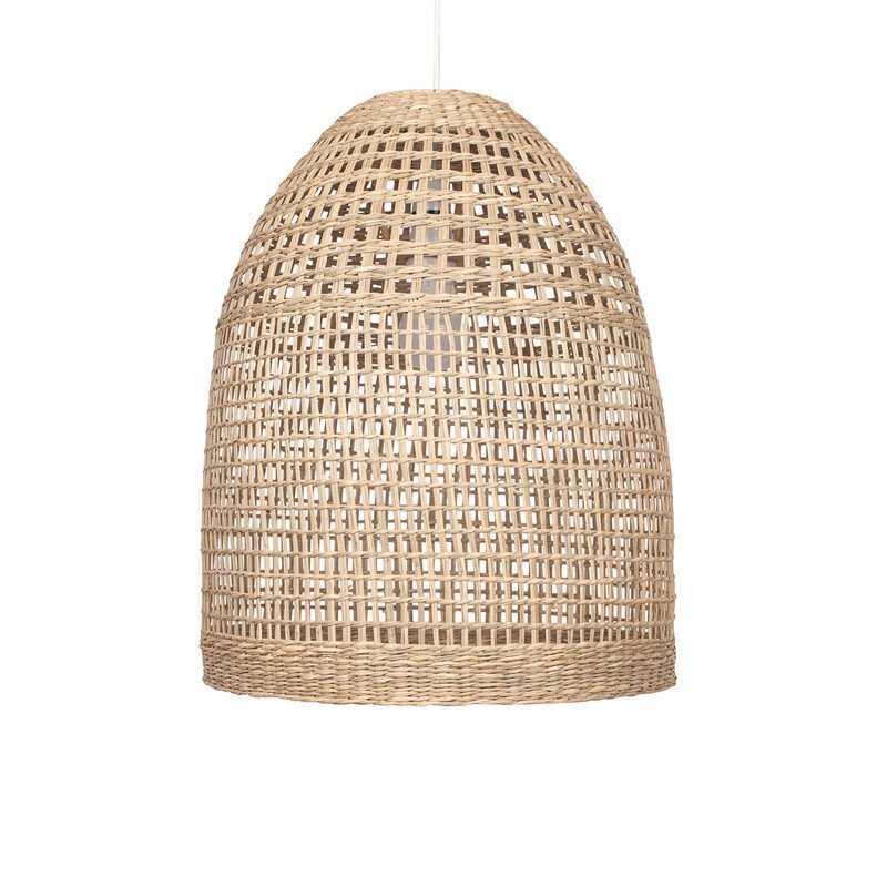 Natural Woven Tall Dome Pendant