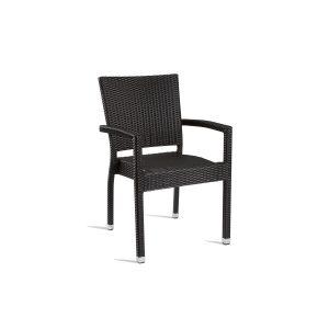 Outdoor Black Weave Armchair