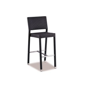 Outdoor Black Weave Bar Stool