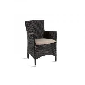 Outdoor Black Weave Comfort Armchair