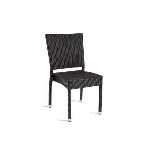 Outdoor Black Weave Stacking chair