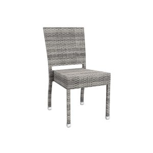 Outdoor Grey Weave Stacking chair