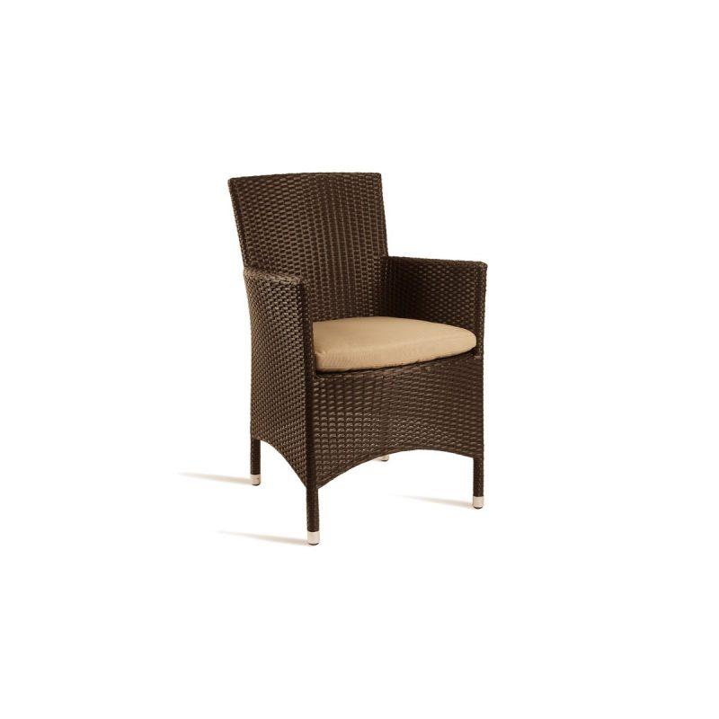 Outdoor Mocca Weave Comfort Armchair