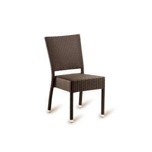 Outdoor Mocca Weave Stacking chair